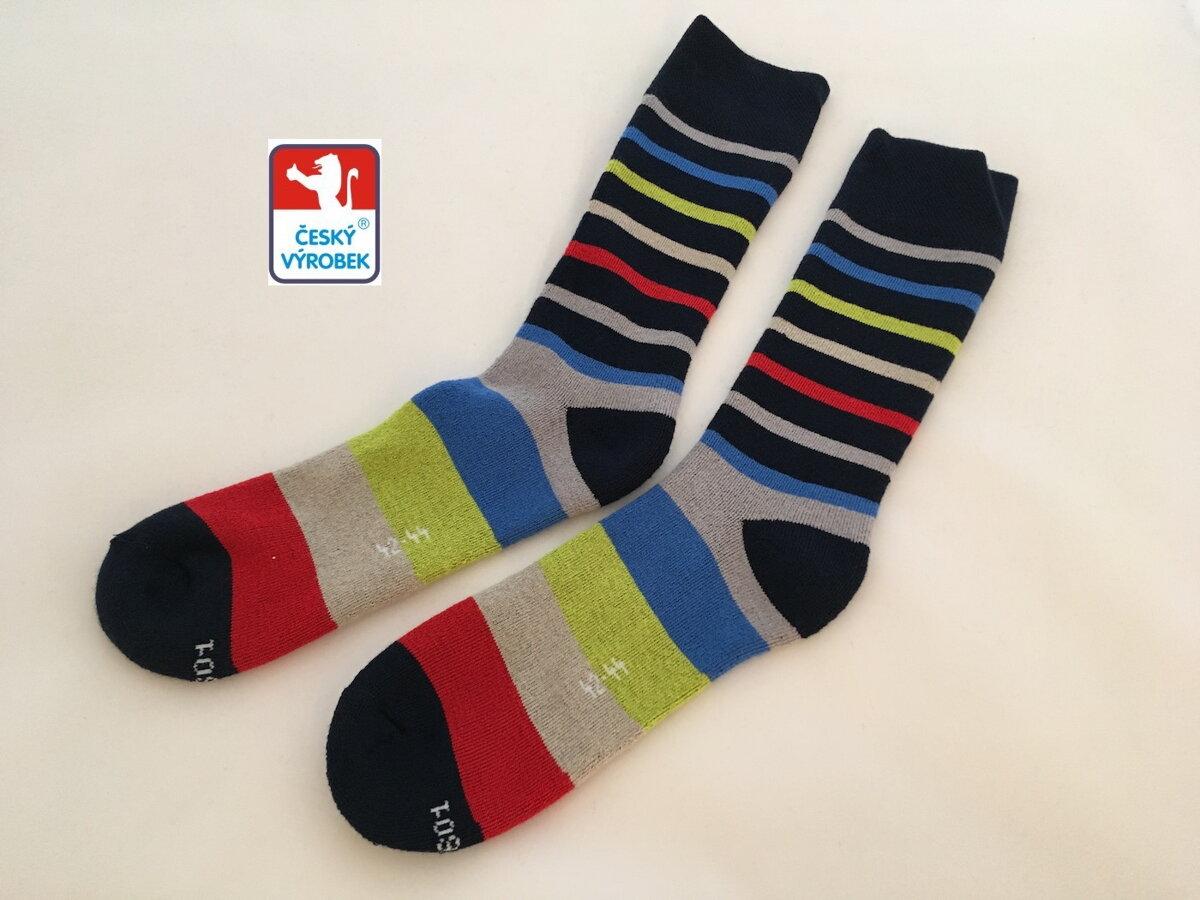 2a6063a44dc Pánské froté ponožky - barevné pruhy